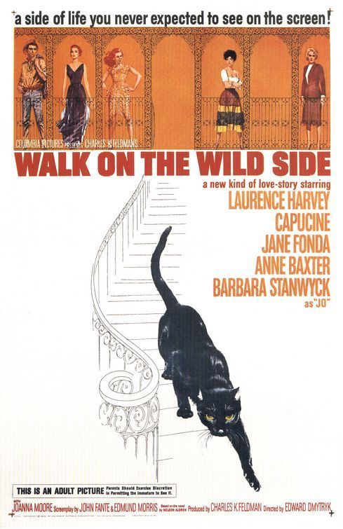 walk on the wild side 1962 movie posters pinterest. Black Bedroom Furniture Sets. Home Design Ideas