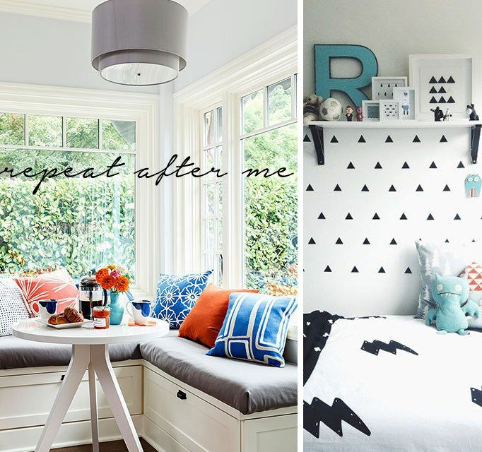 Tips for small rooms - Echo pattern and colour pops for a cohesive feel in a small space, making the room come together as a whole - www.homeology.co.za