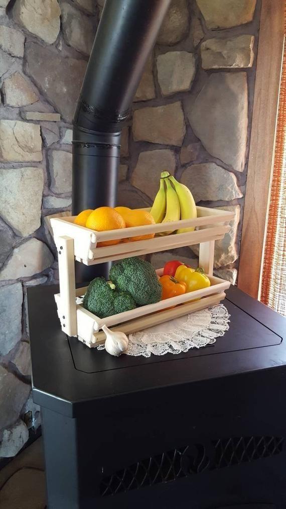 Space Saver Storage Basket Wooden Basket Vegetable Bin Fruit Storage Stand Kitchen Storage Fruteira De Madeira Diy Decoracao Moveis Prateleiras De Paletes