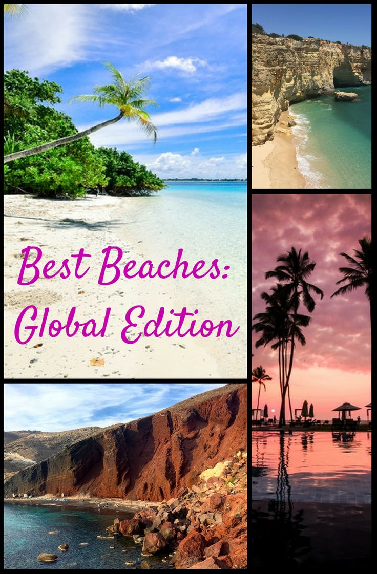 World's Best Beaches! From rocky beaches to secluded beaches, palm tree beaches and best beach bar beaches, we have suggestions all over the world. Here are our favorites for families and friends who travel together.