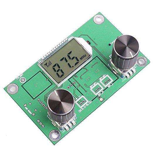 Icstation Mini Digital FM Radio Wireless Receiver Module LCD Display DSP PLL