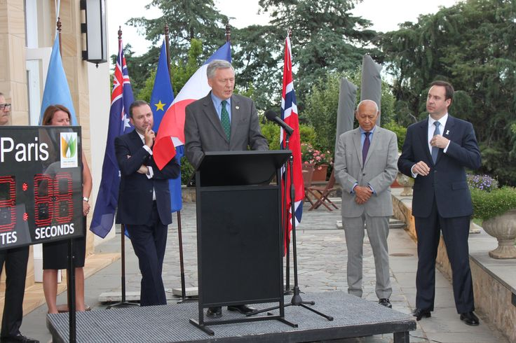 Director of UNIC Canberra speaking at Climate Change event in Partnership with the French Embassy, Canberra. This event was held in the lead up to the COP21 climate change conference in Paris, in December, 2015.