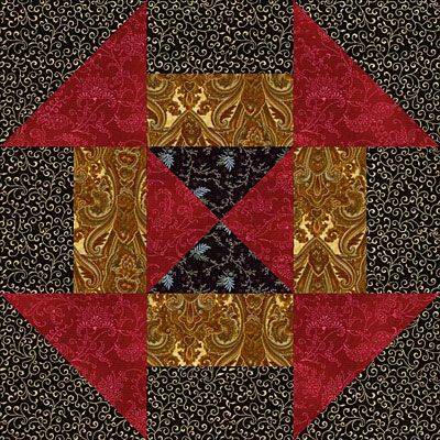 Churn Dash Quilt Block Pattern Variation: Introduction to the Churn Dash Quilt Block