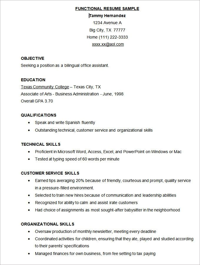 Microsoft Word Resume Template 49 Free Samples Examples Functional Resume Template Resume Template Free Microsoft Word Resume Template