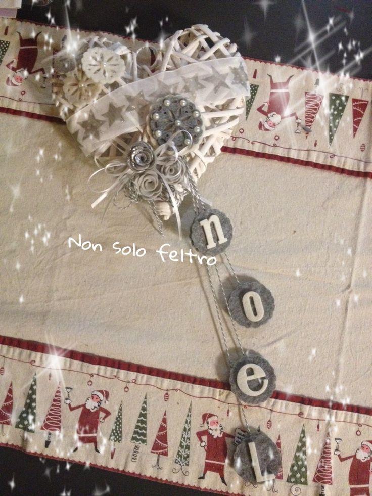 Fuoriporta in rattan natalizio