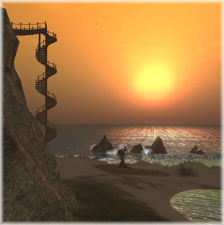 Mystical Falls - sunset By Stella M.