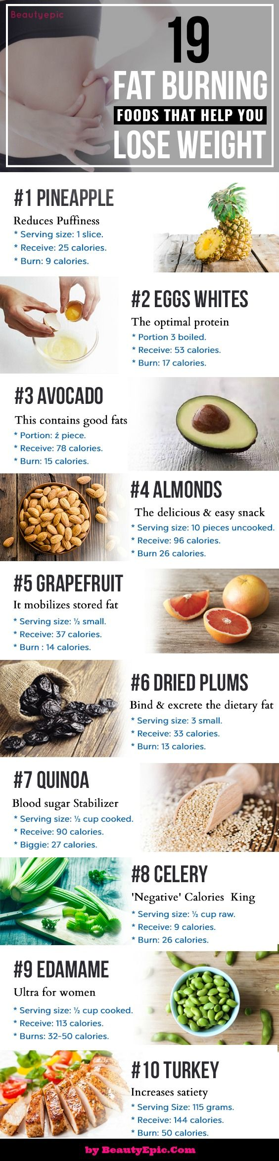 19 Super Foods That Burn Fat & Help You Lose Weight - Beauty Epic                                                                                                                                                                                 More