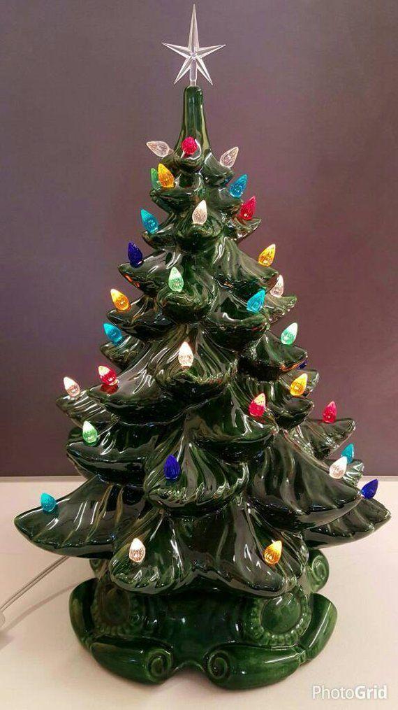 Ceramic Christmas Tree 16 Ceramic Christmas Tree 16 Tall 18 With Star Ceramic Tree Large Ceramic Christmas Vintage Ceramic Christmas Tree Ceramic Christmas Trees Retro Christmas Decorations
