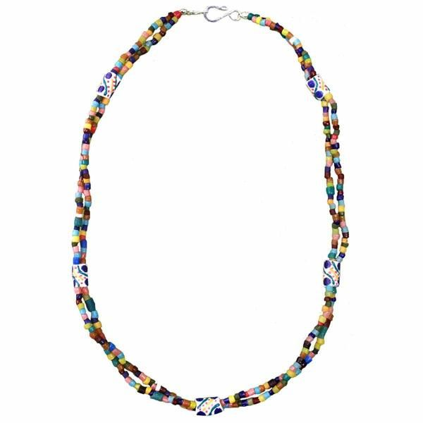 Festival Necklace Rainbow with Colorful Beads