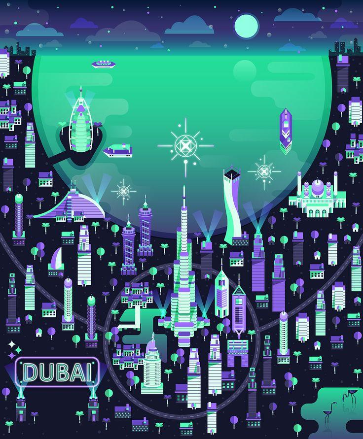 Aldo Crusher - Cosmópolis Pt. 3  - Dubai map