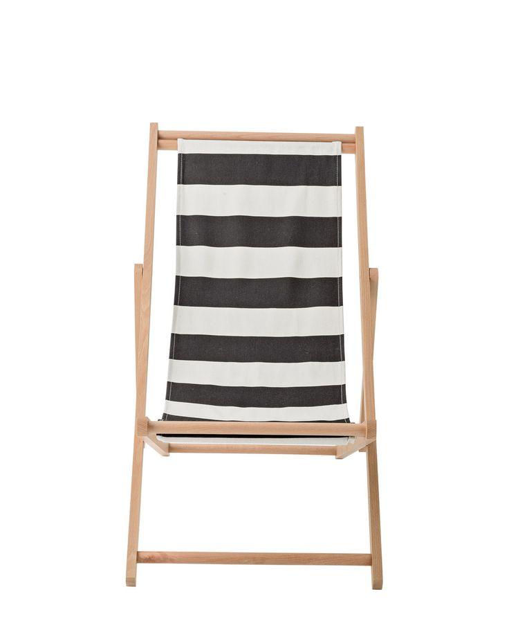 Preispaket Enthalten: Bloomingville Liegestuhl Stripes Kit Black