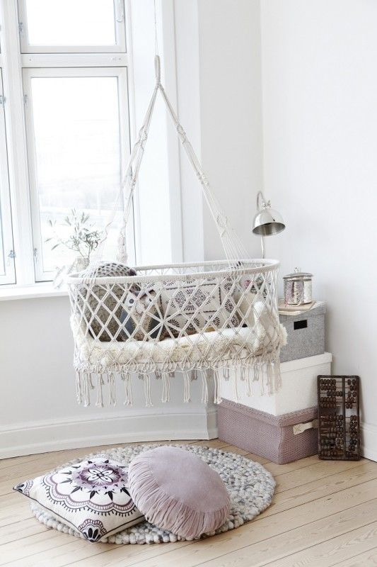 Ethic inspired hanging bassinet | Kid's room