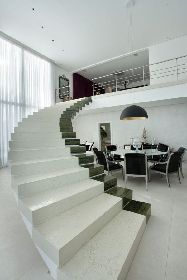 Holiday-Inspiring Modern Villa in Brazil #stairs