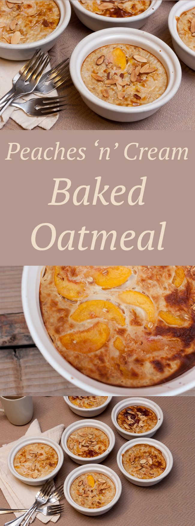 Peaches 'n' Cream Baked Oatmeal makes a great healthy breakfast that your family will love!