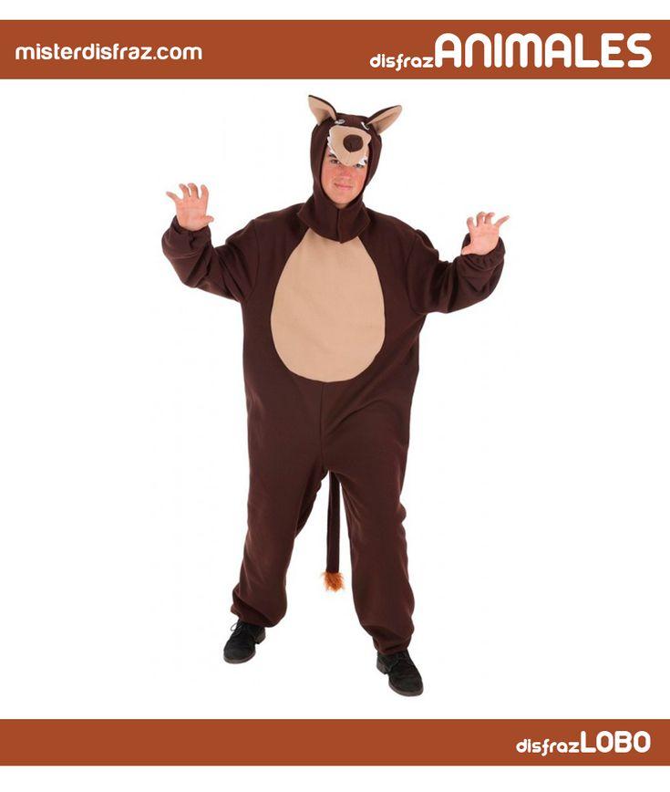 Disfraz de Lobo Peluche para Hombre. El disfraz de lobo, además de calentito, es muy recurrente porque puedes utilizarlo con Caperucita.  #disfrazdeanimal #disfrazesdeanimales #disfraz #animal #disfrazhombre #hombre #lobopeluche #lobo #peluche