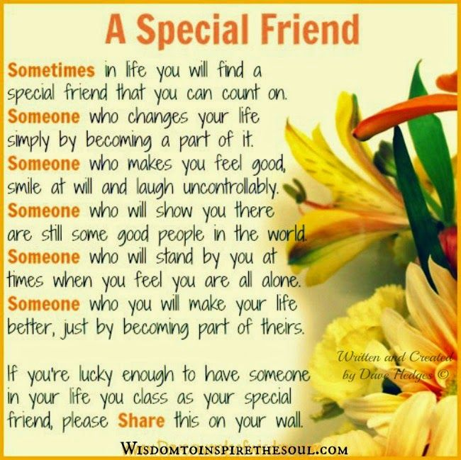 Daveswordsofwisdom.com: Special friend we can count on.