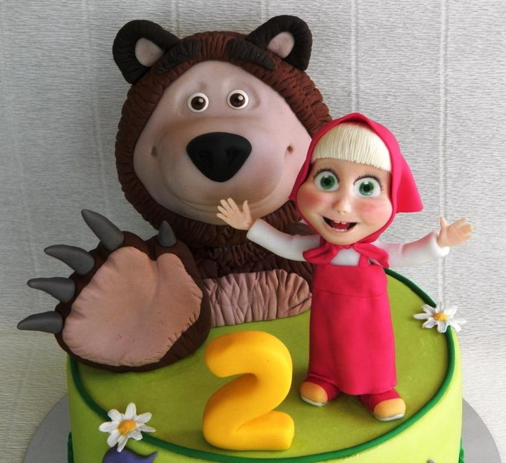 Masha and the Bear - Cake by LaDolceVit