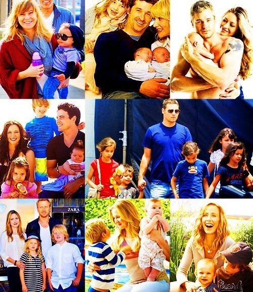 Cast and their families <3 I still can't grasp the concept that they have REAL lives...