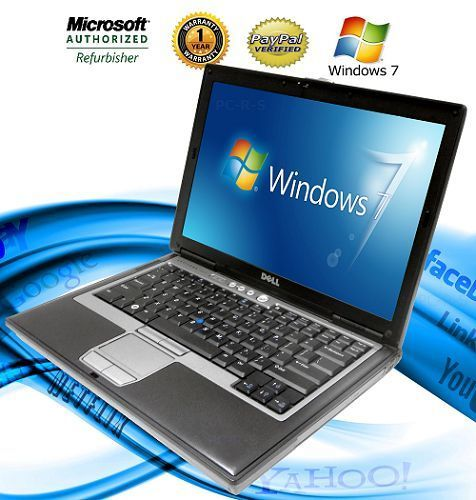 DELL Latitude CHEAP Laptop Computer Core 2 Duo 40GB WiFi DVDRW Windows 7 Grade F #Dell