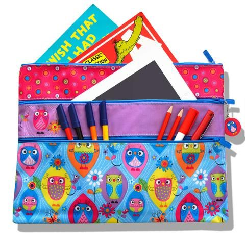 A4 Kids Stationery Organizer & Pencil Case - 3 Pocket - School Depot NZ  - 1