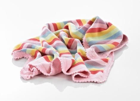 Pretty and soft...snuggle them in for sweet dreams in this pastel pink blanket. Great in the cot or to throw on the ground for playtime. This crocheted blanket
