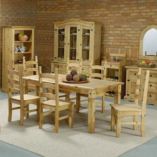 Mexican-pine-furniture-corona-pine-dining-set-chairs
