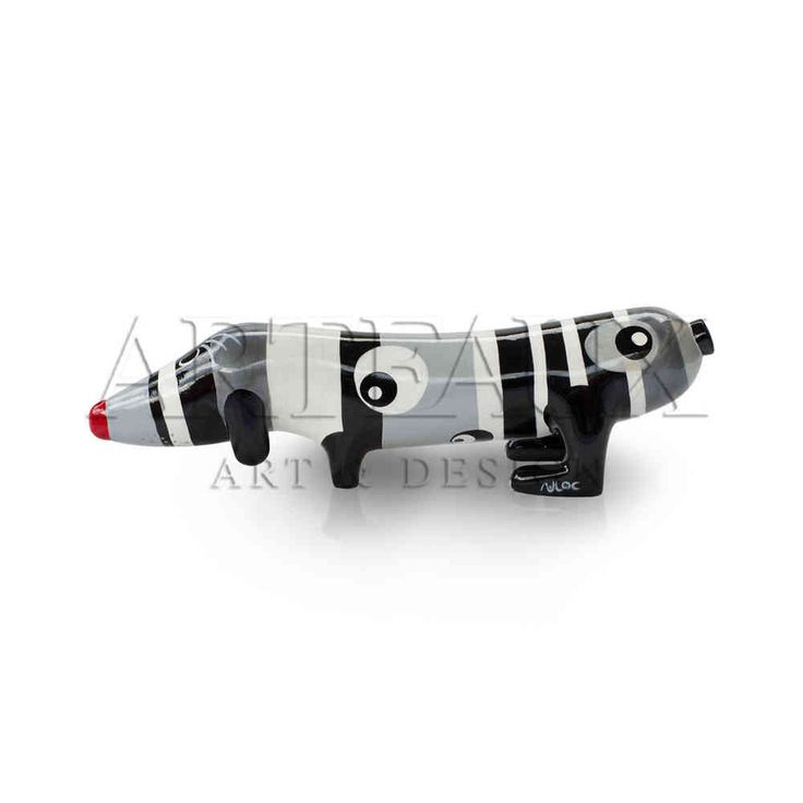 Niloc Pagen #Hotdog Silverline Black and silver. Available in 3 sizes