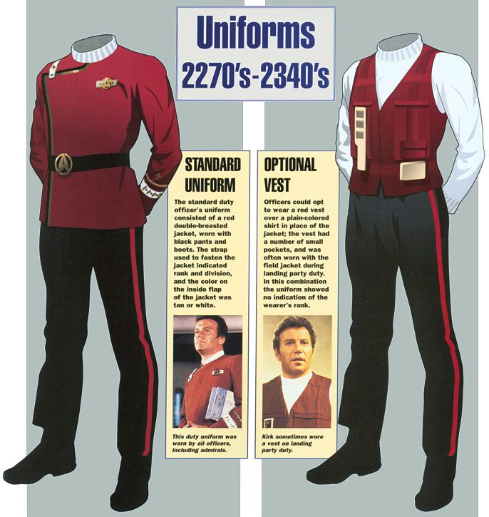 Star Trek: Starfleet Uniforms - Standard Uniform and Optional Vest