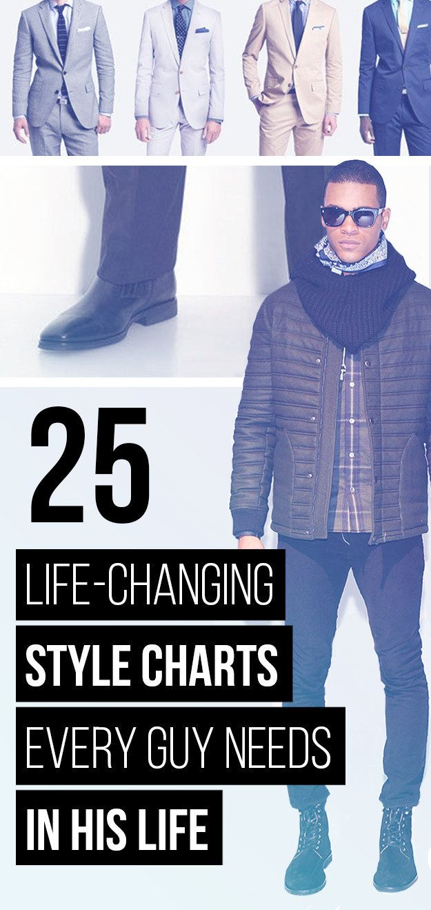 25 Life-Changing Style Charts Every Guy Needs Right Now... So you can look like the super hot dude you were meant to be.