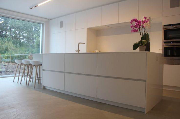 Moderne woning Keerbergen - Texture Painting - Alle Mortex toepassingen en schilderwerken van een hoogwaardige kwaliteit