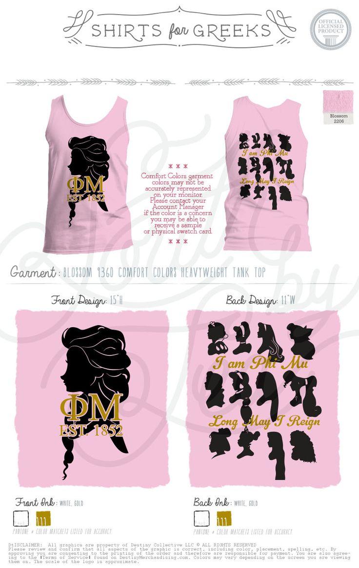 T shirt design evansville indiana - Evansville Phi Mu Phi Mu Princess Tank Blossom Tank Sorority T Shirts