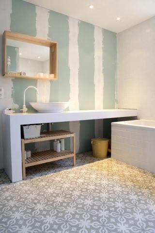 Cement tiles - Project De Coninck - Bathroom