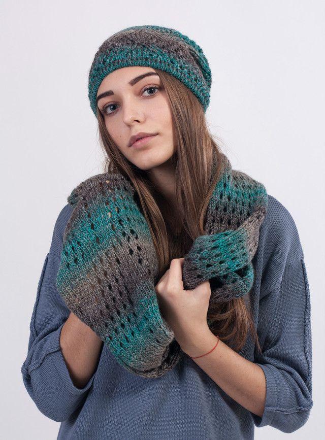 Молодежный женский комплект из шапки и шарфа хомута - купить по лучшей цене в…