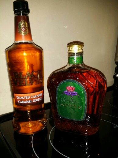TOASTED CARMEL APPLE SHOOTER by Angela Cote   2/3 Crown Royal Apple 1/3 Black Velvet Toasted Carmel Whiskey  Deliciously fantastic!