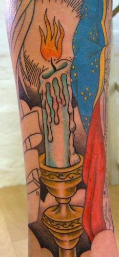 candle stick tattoo, Tatu Lu Australia  Tatulu's Tattoos, Mullumbimby, Australia - TATTOOS