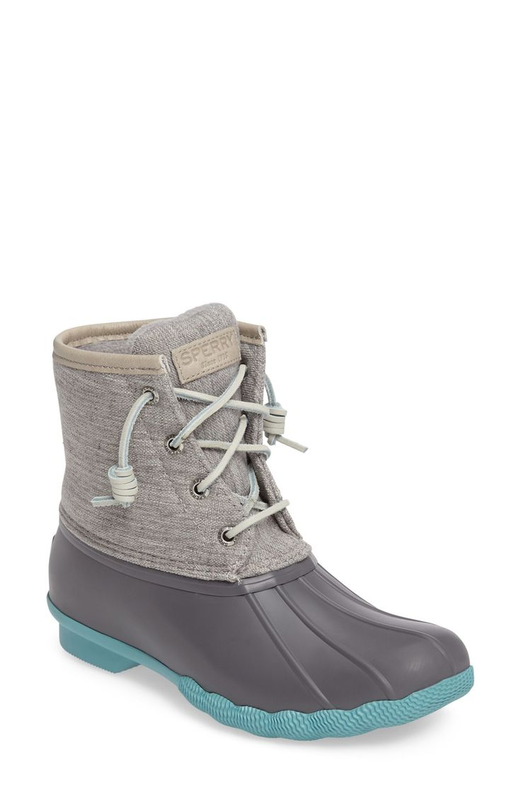 Fun Grey and Teal 'Saltwater' Duck Boot