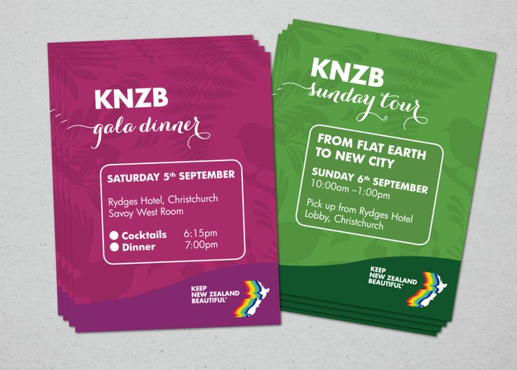 Working with the Keep New Zealand Beautiful branding requirements, I have designed collateral for their 2015 conference. This included the program, the annual report, tickets for the events and the…