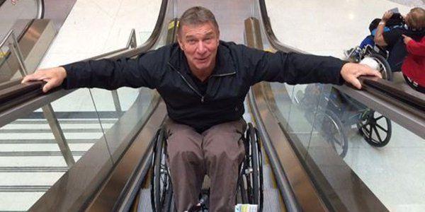 Rick Hansen conquers escalator like a BOSS http://huff.to/1NyZalY
