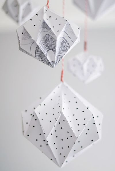 DIY : paper diamond - so easy