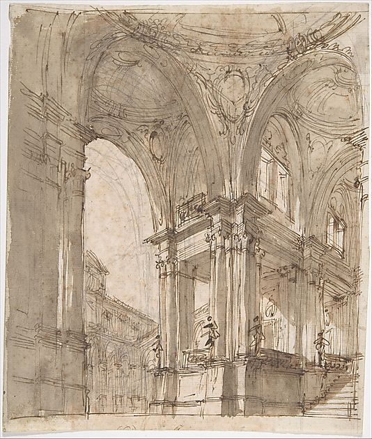 Architectural Study -  Filippo Juvarra  (Italian, Messina 1678–1736)