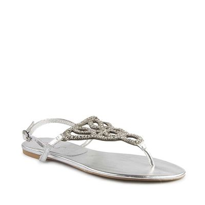 Miranda - Silver Kid by Miss S - Flat Sandals Womens  Available at www.shoesonline.com.au