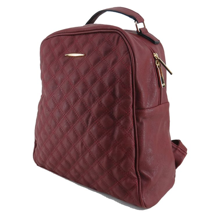 Mochila feminina de couro ecológico, bordô. Para carregar notebook, cadernos, roupas e tudo o mais que vc precisar. http://lojadibella.com.br/d/103/Bolsa+Mochila  #mochila #mochiladecouro #mochilafeminina #lojadibella #bag #backpack Mochila, mochila de couro, mochila feminina, mochila diferente, mochila linda.