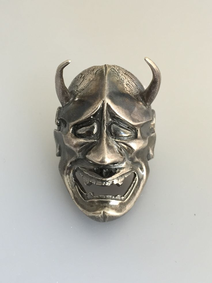Hannya mask pendant silver 925 hand made Alquimist art 2015