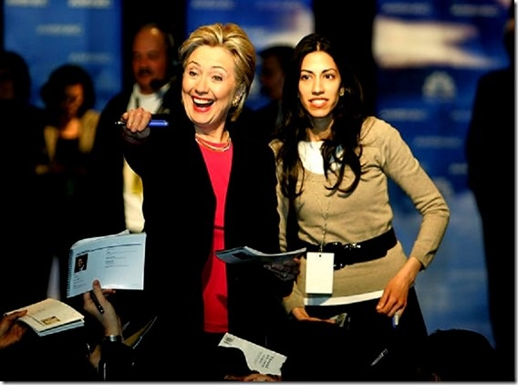 """SlantRight 2.0: Huma Abedin, Muslim Brotherhood and Benghazigate?  Apparently Huma Abedin continued her role with Hillary just as a consultant to the State Department. Let's see possible Muslim Brotherhood collaborator, Benghazigate cover-up, Ambassador Stevens negotiating with Libyan Islamists to deliver arms to Syrian rebel Islamists BUT maybe a MB arms diversion to Egypt to deliver the arms to Hamas. Yeah I know that is a lot of """"ifs""""."""