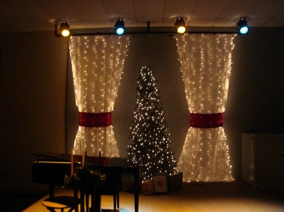 Curtain Decor Packed Christmas Church Stage Design Ideas Share This Noid  Curtains Trees Keys Drapery Design , Christmas Curtains Style Design Ideas:  ...
