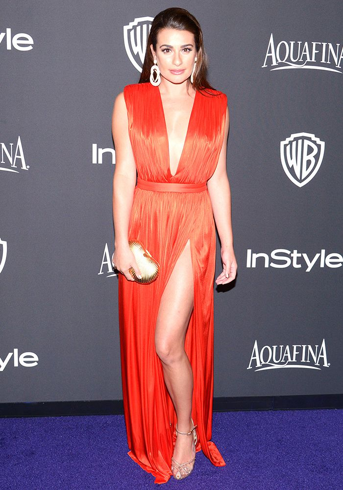 Lea Michele Golden Globes party