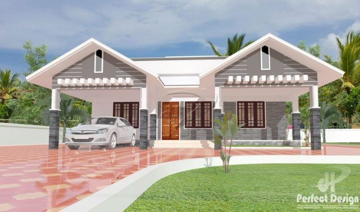 1087 Sq Ft 3 Bedroom Single Floor Modern Slope Roof Home Design And Plan Home Pictures In 2020 Kerala House Design Architectural House Plans Modern Bungalow House