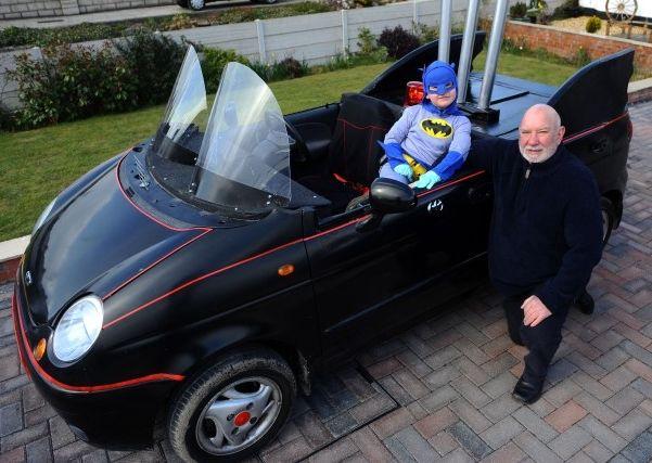 Granddad builds Batmobile from Daewoo Matiz for his grandson