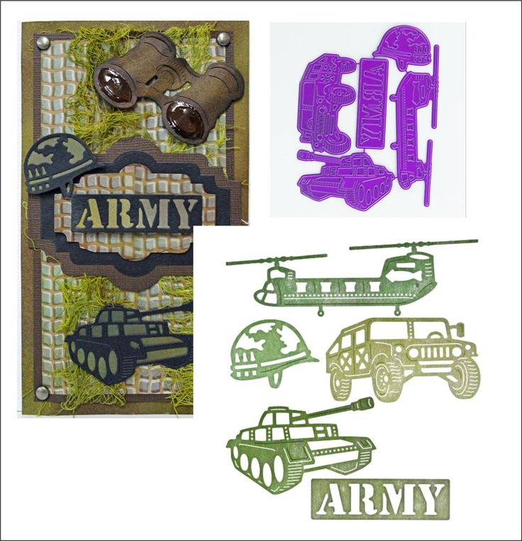 Army Military die set by Cheery Lynn Design dies B513