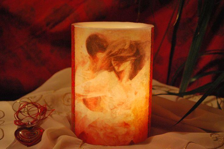 Κερί φαναράκι (βάζετε μέσα ρεσώ) Το σχέδιο είναι από πίνακα ζωγραφικής.